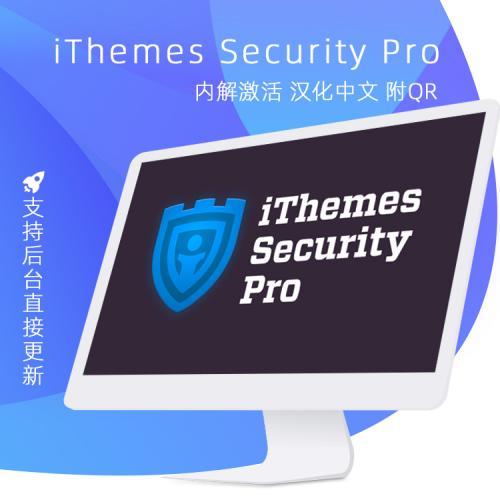 iThemes Security Pro v6.8.0 汉化中文版 wordpress安全设置插件
