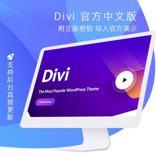 Divi v4.6.6 带key密匙WP主题企业中文模板自适应简约科技支持SEO